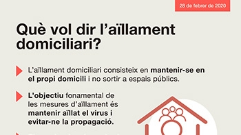Què vol dir l'aïllament domiciliari?